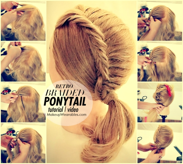 How-to-retro-braided-ponytail-hair-tutorial-video