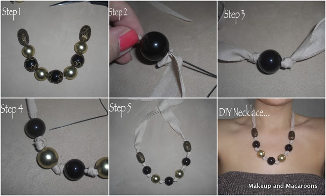 diy necklace step by step
