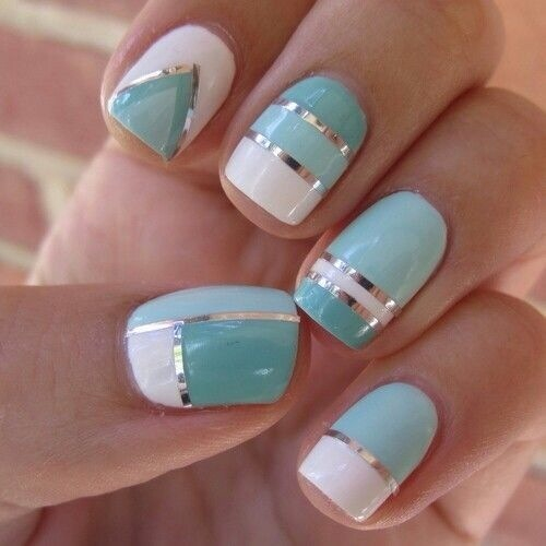 mint-pastel-nails-art-designs-2014