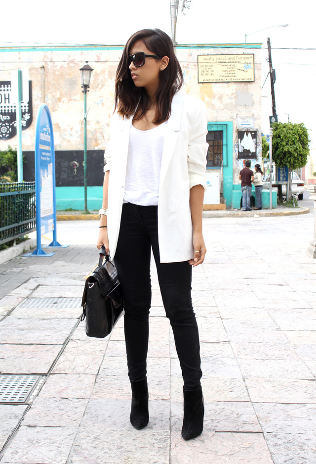 White Blazer Outfit Outfits With Long Blazers