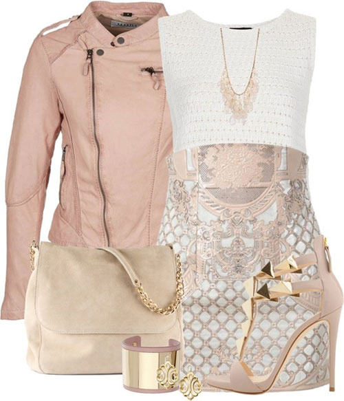 15 Baby Pink Polyvore Combinations