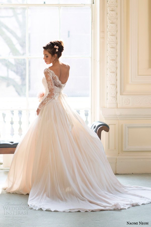 Image Via Weddinginspirasi Naomi Neoh Bridal 2014 Fleur Wedding Dress Back