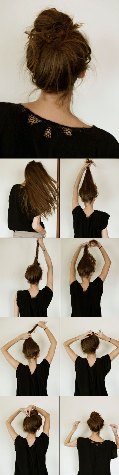 how to do twist hairstyles : super-easy-knotted-bun-updo-and-simple-bun-hairstyle-tutorials-718023 ...