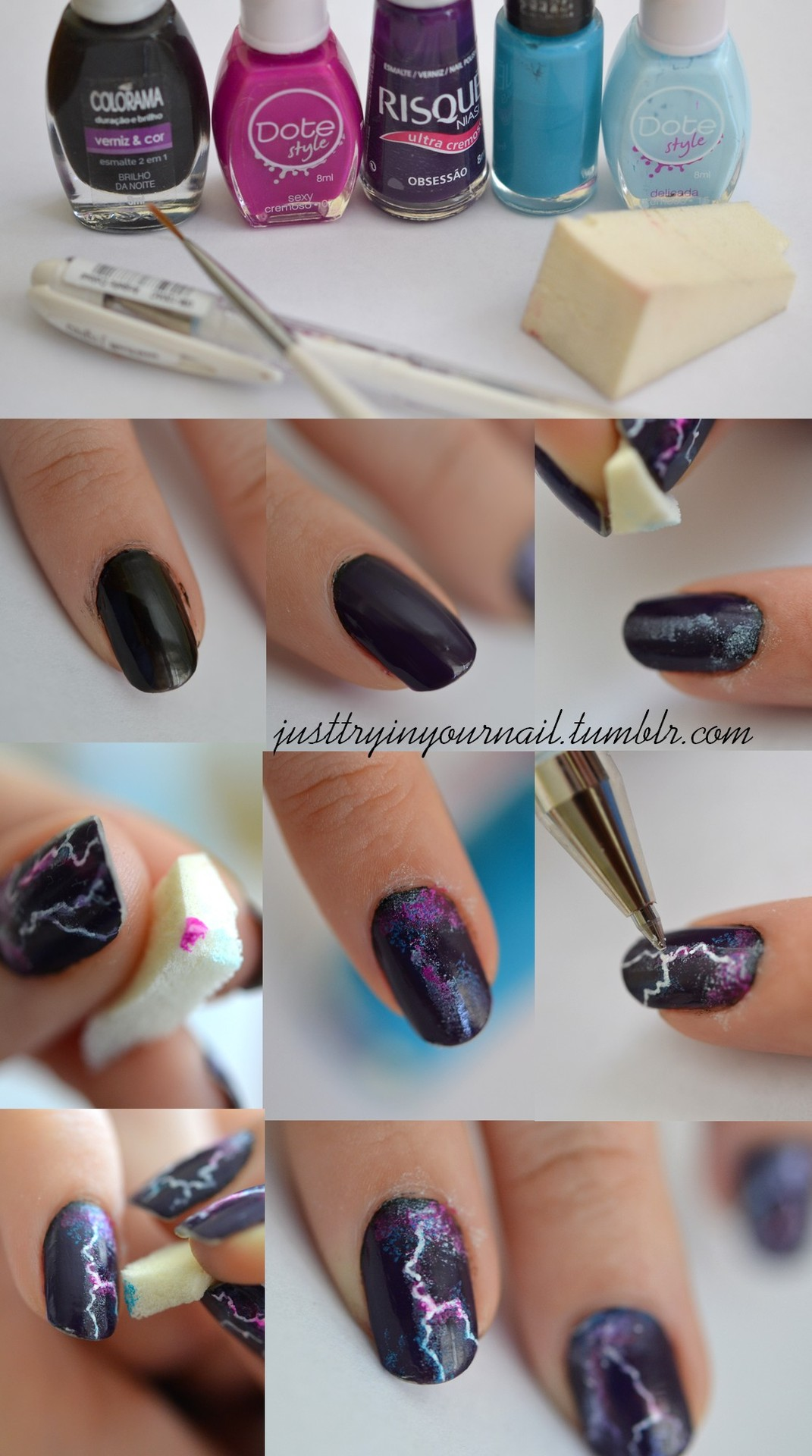 18 cool nail tutorials that you have to try Cool nail design ideas at home