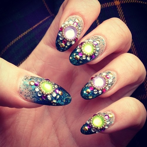 19 Embellished Gem Nails