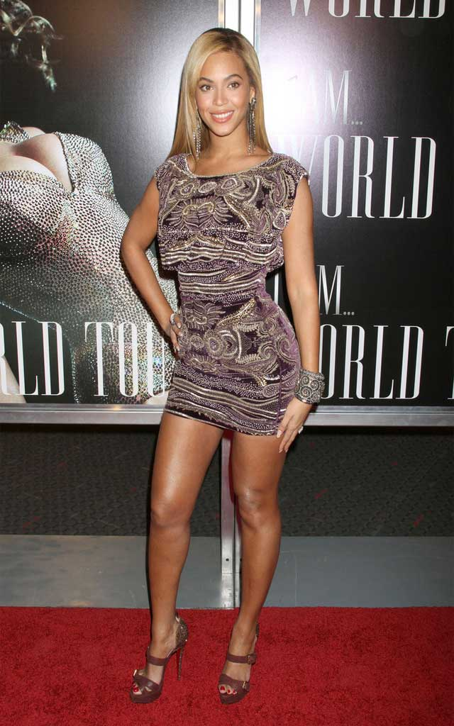 Beyonce Knowles Beaded Dress (2)