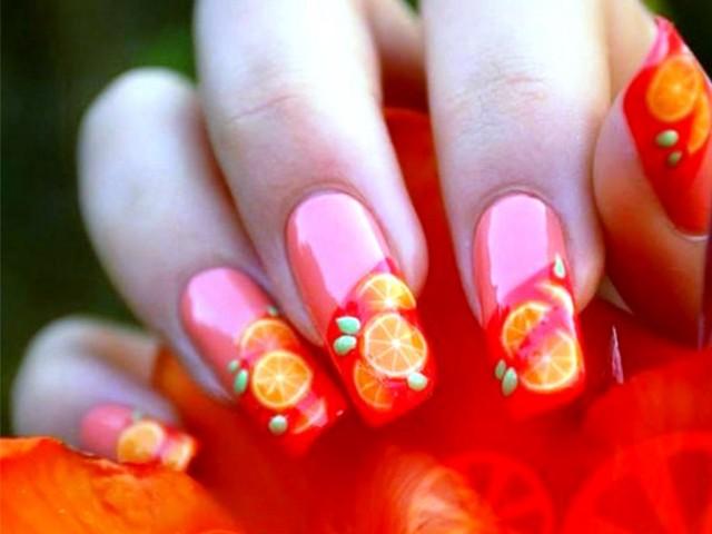 Cool-Orange-nail-art-ideas