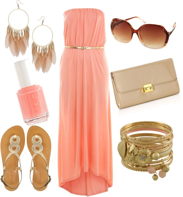 Coral-Maxi-Dress-Created-By-Sbigg11-On-Polyvore