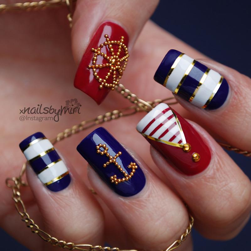 15 Cute Nautcal Nail Arts