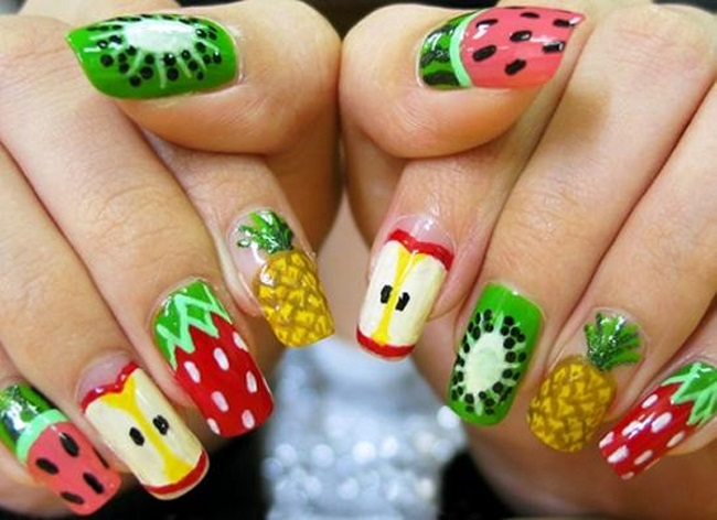 15 Refreshing Summer Fruit Nail Designs