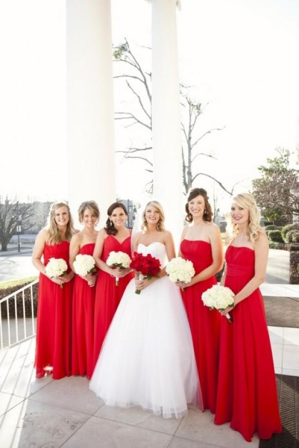 Red Bridesmaid Dresses Will Add A Splash Of Color To Your Special Day