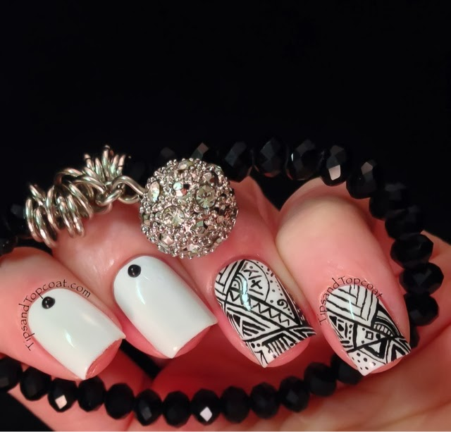 Black White Nails Art Design