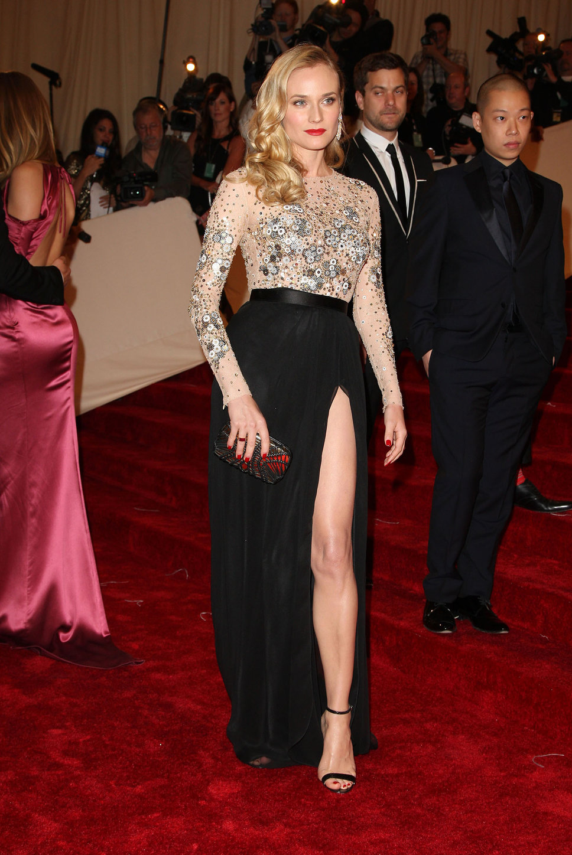 15 Glamorous High Slit Dresses For An Elegant Look