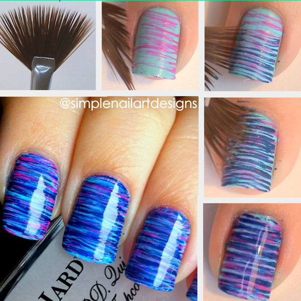 Lovely nail art tutorials for lovely divas fan brush nail art tutorial1 prinsesfo Image collections