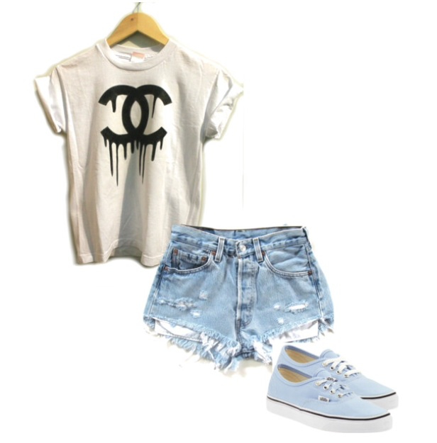 17 polyvore combinations with highwaisted shorts