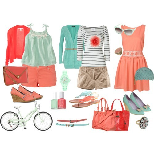Have a Coral Summer with These Lovely Polyvore Combinations