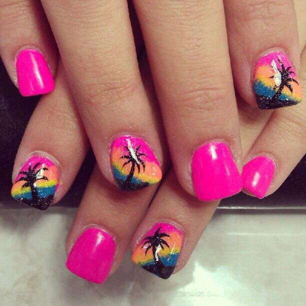 16 Beach Inspired Nail Designs To Try This Summer