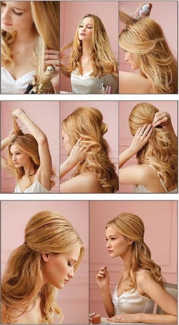 Surprising 13 Half Up Half Down Hair Tutorials Short Hairstyles Gunalazisus