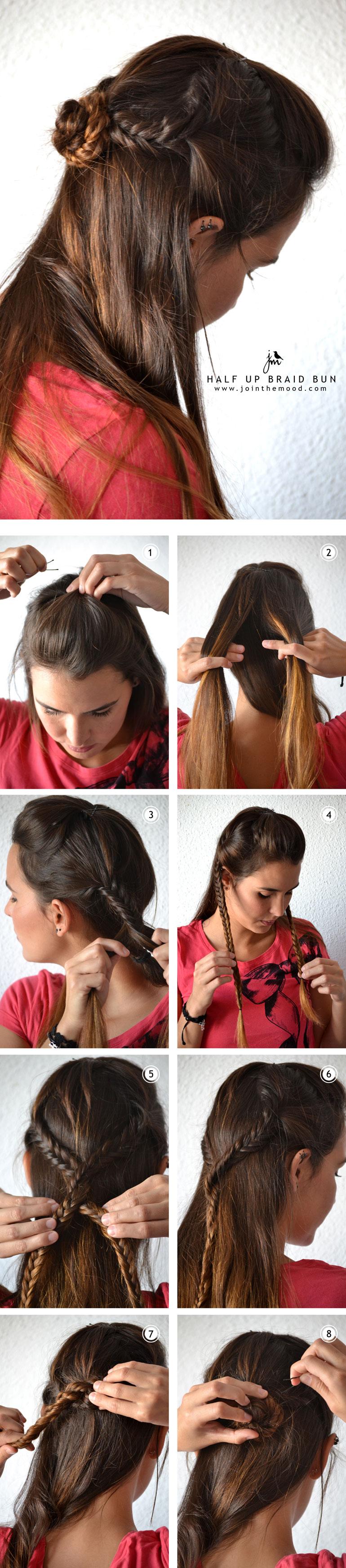 Pleasant 13 Half Up Half Down Hair Tutorials Short Hairstyles Gunalazisus