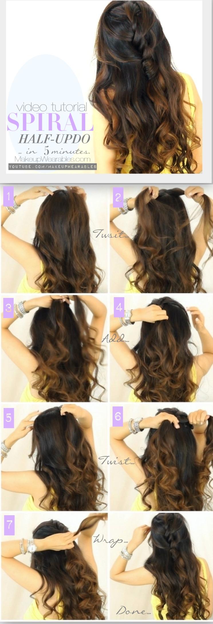 Amazing 13 Half Up Half Down Hair Tutorials Short Hairstyles Gunalazisus