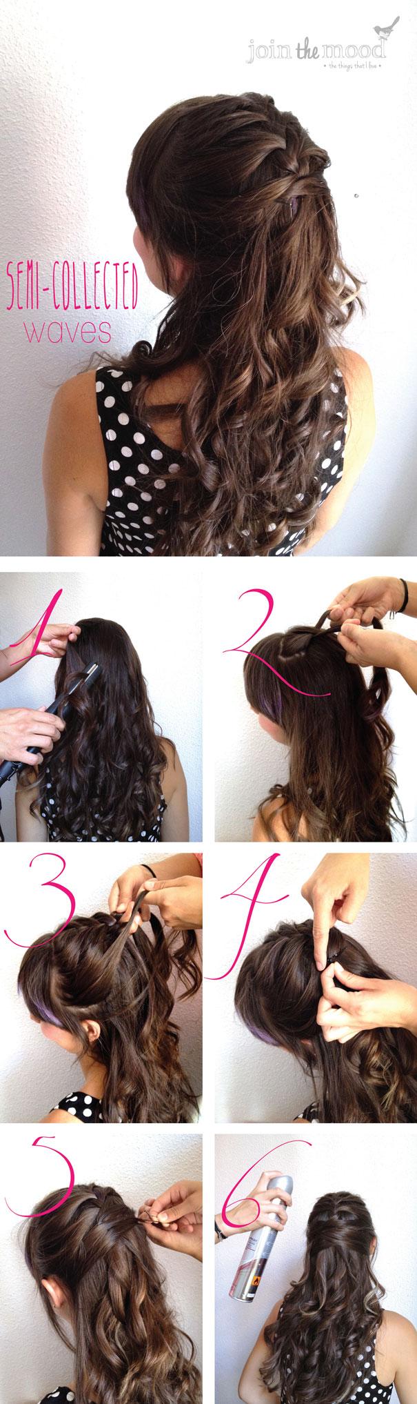 13 Half Up Half Down Hair Tutorials