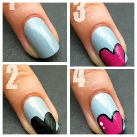 Lovely step by step nail tutorials image via zestyfashion easy nail art design for girls prinsesfo Gallery