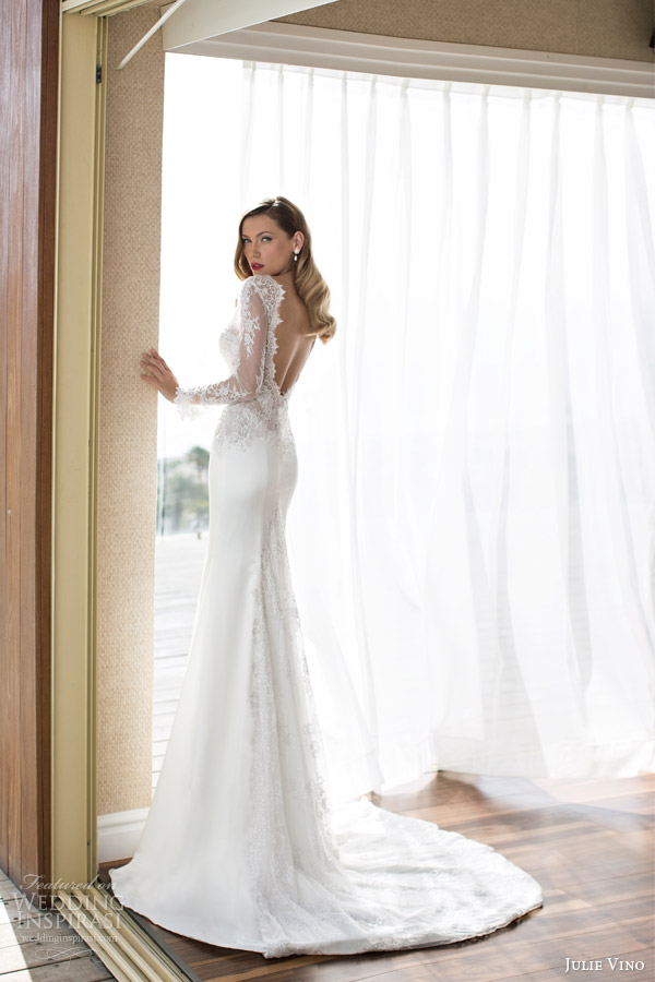 julie-vino-spring-2014-marlis-long-sleeve-wedding-dress-back