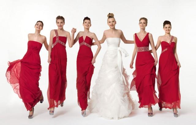 long-red-bridesmaid-dresses