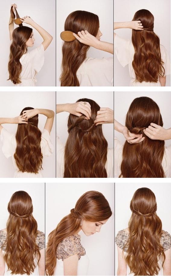 Astonishing 13 Half Up Half Down Hair Tutorials Short Hairstyles Gunalazisus