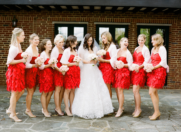 short-red-bridesmaid-dresses