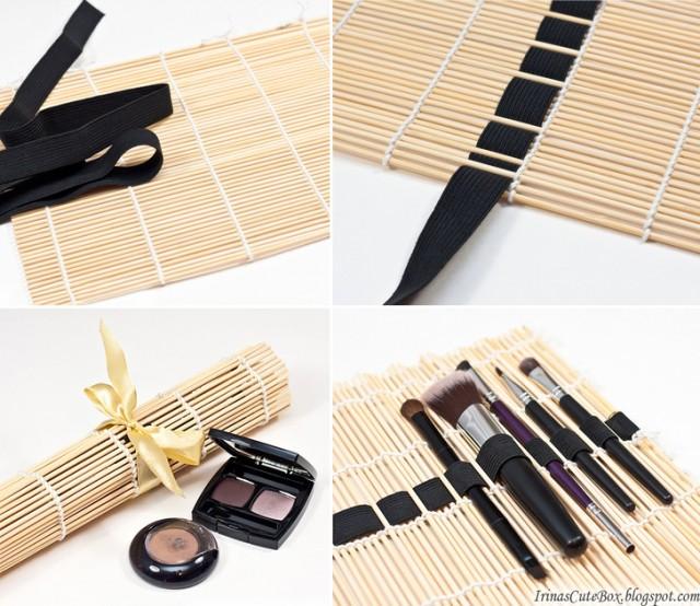 sushi-mat-makeup-brushes-organizer-collage
