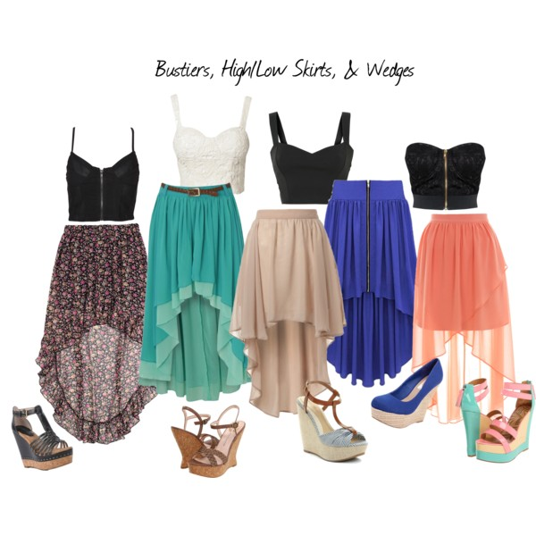 42 Polyvore Combinations With Skirts For A Crazy Summer
