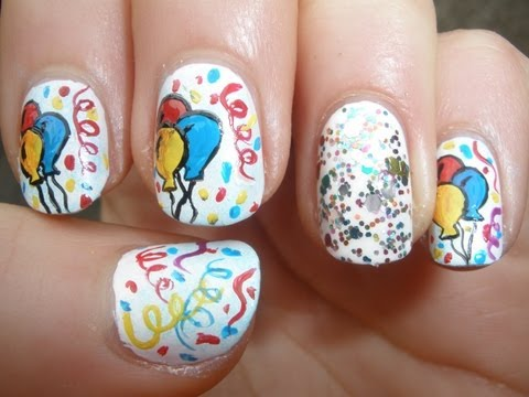 Happy Birthday Nail Art Designs