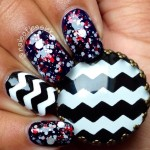 Zig-Zag Chevron Print On Your Nails