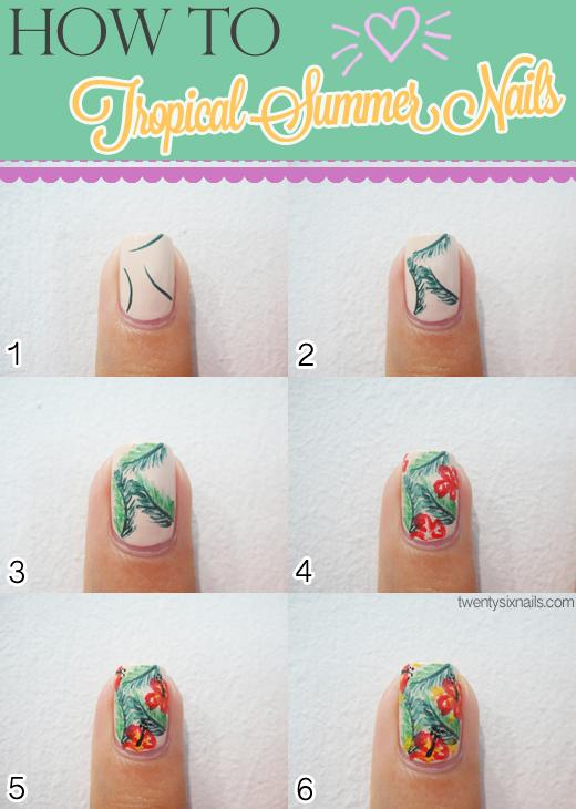 Adorable Summer Nail Art Tutorials