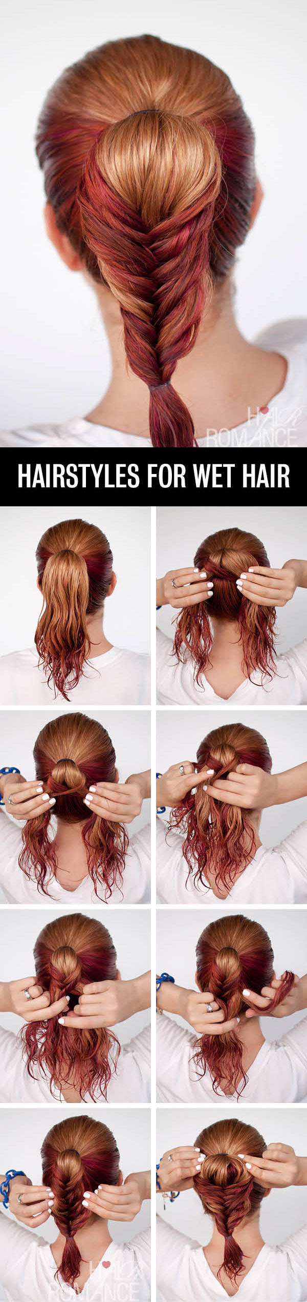 Hair-Romance-Hairstyle-tutorials-for-wet-hair-the-fishtail-ponytail