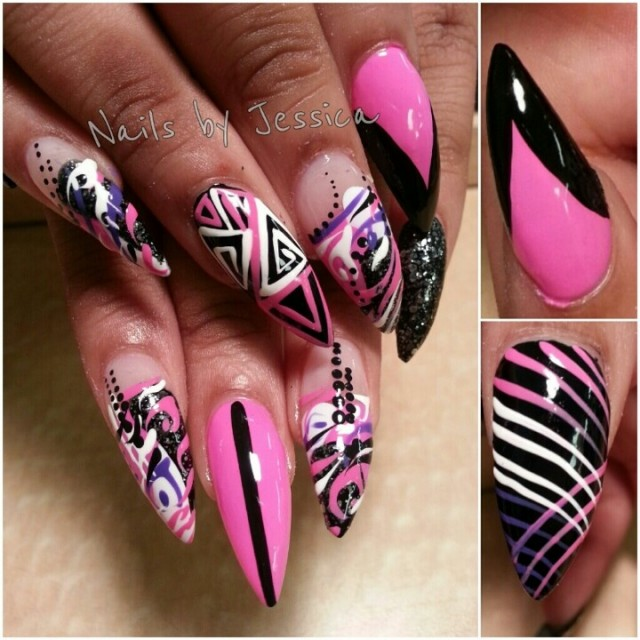 15 Amazing Stiletto Nail Designs