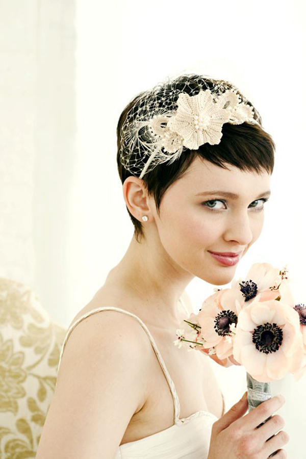 Short-hair-wedding-bridal