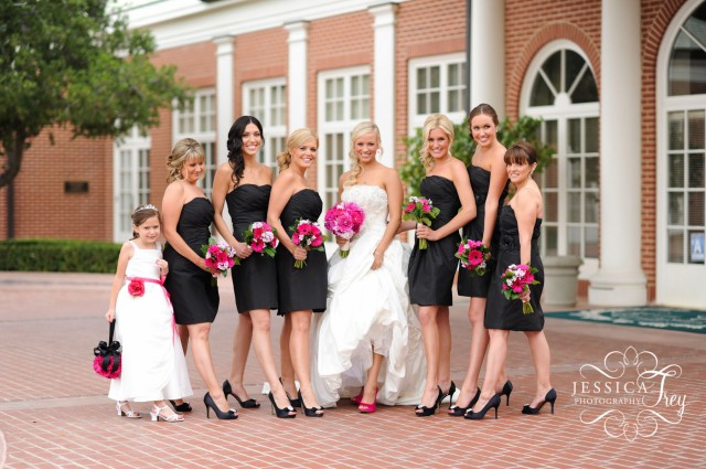 black-bridesmaid-dresses-with-strapless-neckline
