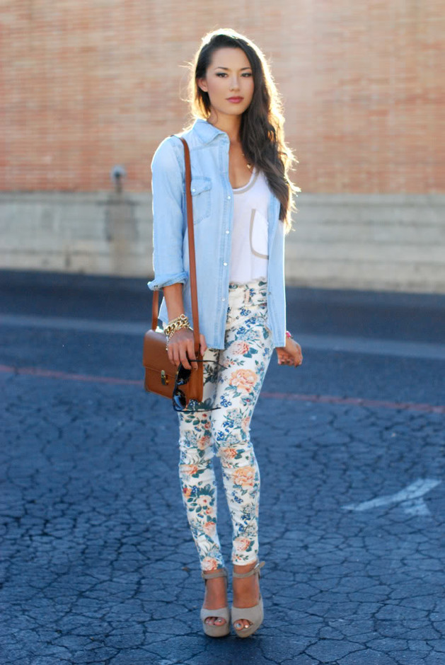 15 Beautiful Printed Jeans Outfits