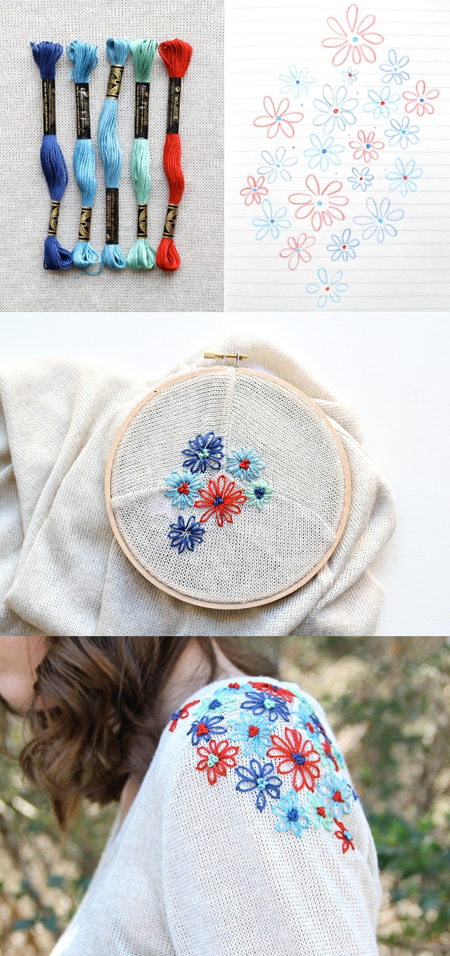 embroiderd sweater