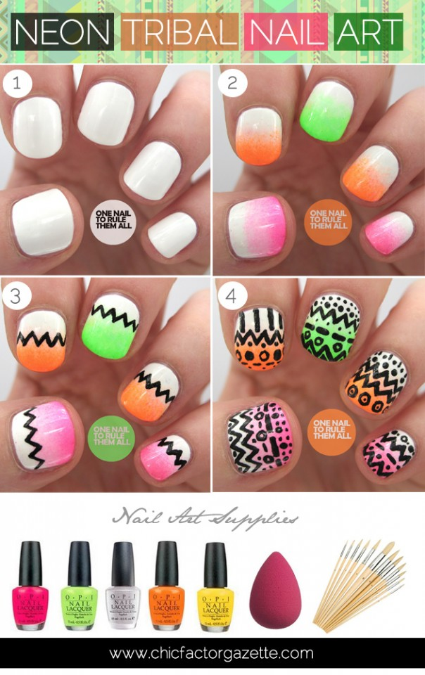 neon-tribal-nail-art-tutorial-chicfactor