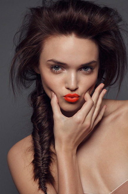 Make a statement with Orange Lipstick