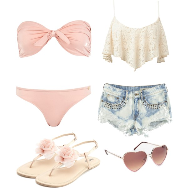 BEACH TIME: 15 AMAZING BEACH POLYVORE COMBINATIONS