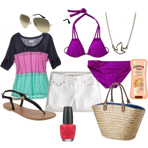 BEACH TIME 15 AMAZING BEACH POLYVORE COMBINATIONS