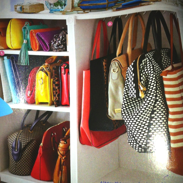 How to Organise Purses in a Closet
