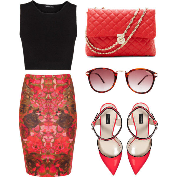 16 Classy Polyvore Combinations With Pencil Skirts