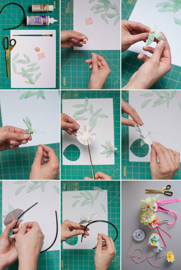 What is the best way to make a flower headband?