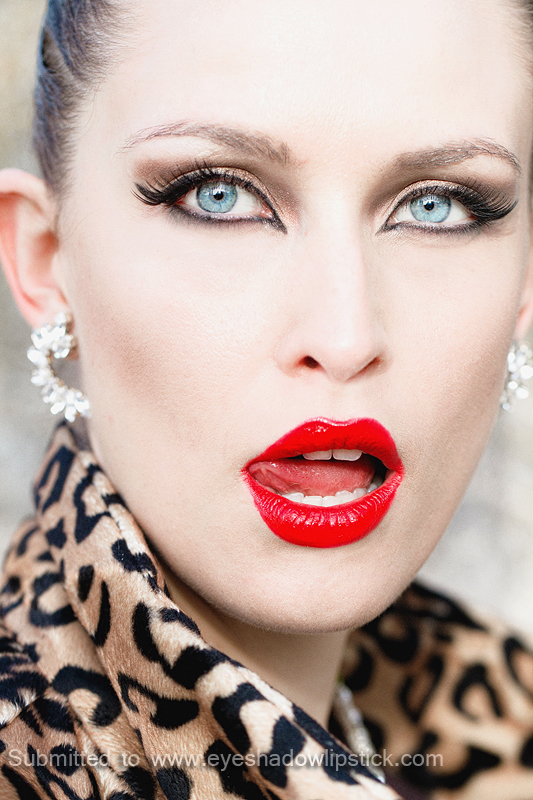 Bold Makeup Inspiration Red Lips And Cat Eyes