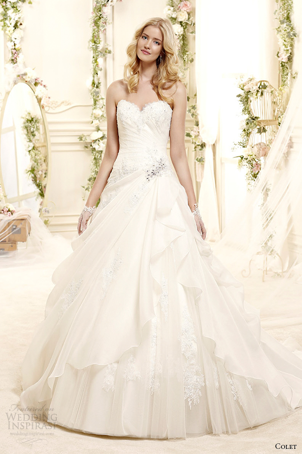 81 stunning wedding dresses by colet 39 s 2015 collection for A line style wedding dresses